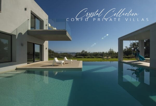 The luxury Villa Eve with private pool is part of the Crystal Collection of Corfu Private Villas.